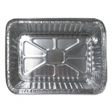 ALUMINUM CLOSEABLE CONTAINERS, 6 1/8W X 2 1/8D X 8 11/16H, SILVER, 500/CARTON