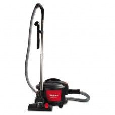 """EXTEND TOP-HAT CANISTER VACUUM, 9 AMP, 11"""" CLEANING PATH, RED/BLACK"""