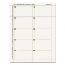 Capital Gold Design Business Cards, 3 1/2 X 2, 65 Lb Stock, Ivory,150/pack