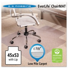 """45x53 Lip Chair Mat, Multi-Task Series Anchorbar For Carpet Up To 3/8"""""""