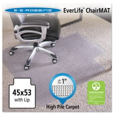 """45x53 Lip Chair Mat, Performance Series Anchorbar For Carpet Up To 1"""""""