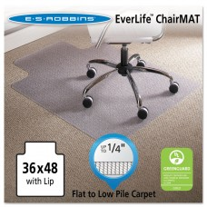 """36 X 48 Lip Chair Mat, Task Series Anchorbar For Carpet Up To 1/4"""""""