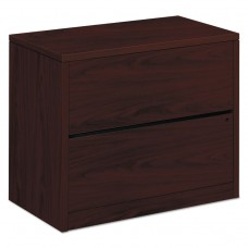 10500 Series Two-Drawer Lateral File, 36w X 20d X 29-1/2h, Mahogany