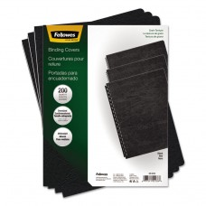 Classic Grain Texture Binding System Covers, 11-1/4 X 8-3/4, Black, 200/pack