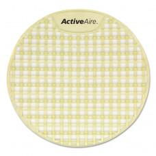 Activeaire Deodorizer Urinal Screen, Citrus, Yellow, 12/carton