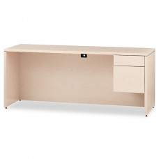 10500 Series 3/4-Height Right Pedestal Credenza, 72 X 24 X 29-1/2, Natural Maple