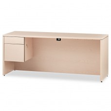 10500 Series 3/4-Height Left Pedestal Credenza, 72 X 24 X 29-1/2, Natural Maple