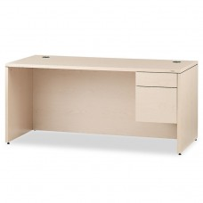 """10500 Series """"l"""" Right 3/4-Height Ped Desk, 66w X 30d X 29-1/2h, Natural Maple"""