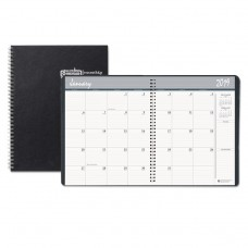 14 MONTH RULED MONTHLY PLANNER, 6 7/8 X 8 3/4, BLACK, 2018-2020