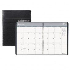 100% RECYCLED TWO YEAR MONTHLY PLANNER W/EXPENSE LOGS, 6 7/8 X 8 3/4, 2019-2020