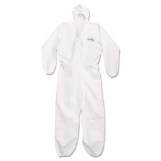 A20 Breathable Particle Protection Coveralls, Large, White, Zipper Front