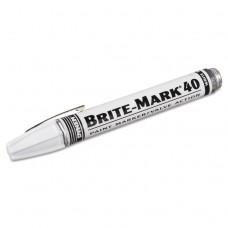 Brite-Mark 40 Paint Marker, Bullet Tip, White