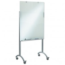 Clarity Glass Mobile Presentation Easel, 36 X 48 X 72, Glass/steel