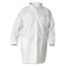 A20 Breathable Particle Protection Lab Coats, Medium, White, 25/carton