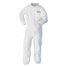 A10 Elastic Back And Cuff Coveralls, Large, White, 25/carton