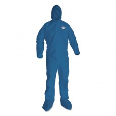 A20 Elastic Back Wrist/ankle, Hood/boots Coveralls, 4x-Large, Blue, 20/carton