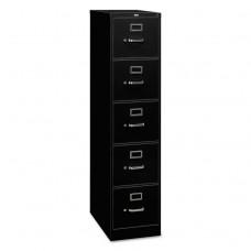310 Series Five-Drawer, Full-Suspension File, Letter, 26-1/2d, Black