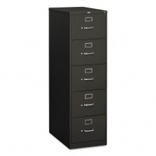 310 Series Five-Drawer, Full-Suspension File, Legal, 26-1/2d, Charcoal