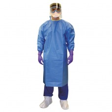 Pure A7 Certified Liquid Barrier Gown, Blue, 2x-Large, 10/carton