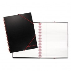 A4+ Ruled Filing Notebook, Legal Rule, Black Cover, 11 5/8 X 8 1/4, 80 Sheets