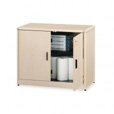 10700 Series Locking Storage Cabinet, 36w X 20d X 29 1/2h, Natural Maple