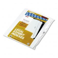 """90000 Series Alpha Side Tab Legal Index Divider, Preprinted """"l"""", 25/pack"""