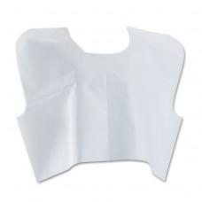 Disposable Patient Capes, 3-Ply T/p/t, 30 In. X 21 In., White 100/carton