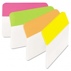 Angled Tabs, 2 X 1 1/2, Solid, Assorted Brights, 24/pack