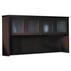 Aberdeen Series Laminate Glass Door Hutch, 72w X 15d X 39-1/4h, Mocha