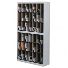 Kwik-File Vertipocket Vertical Sorter, 42 Pkt, 37 3/4 X 12 3/4 X 71, Pebble Gray