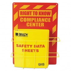 Sds Compliance Center, 14 X 20, Yellow/red
