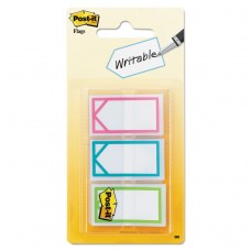 """Arrow 1"""" Page Flags, Three Assorted Bright Colors, 60/pack"""