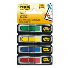 """ARROW 1/2"""" PAGE FLAGS, ASSORTED PRIMARY, 24/COLOR, 96-FLAGS/PACK"""