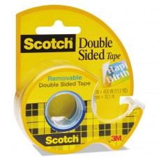 """667 Double-Sided Removable Tape And Dispenser, 3/4"""" X 400"""", Clear"""