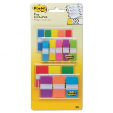 """1/2"""" And 1"""" Page Flag Value Pack, Nine Assorted Colors, 320/pack"""