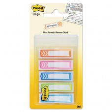 """Arrow 1/2"""" Page Flags, Five Assorted Bright Colors, 100/pack"""
