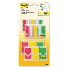 """1/2"""" And 1"""" Prioritization Page Flag Value Pack, Red/yellow/green, 320/pack"""