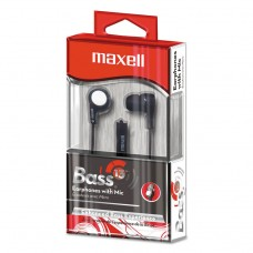 """B-13 Bass Earbuds With Microphone, Black, 52"""" Cord"""