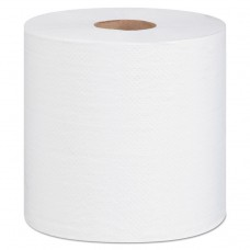 """100% Hardwound Roll Paper Towels, 2-Ply, 7.5"""" X 600 Ft, White, 6/carton"""