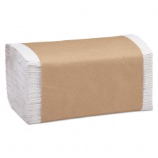 100% Recycled Folded Paper Towels, 1-Ply, 8.62 X 10 1/4, White, 334/pk, 12pk/ct