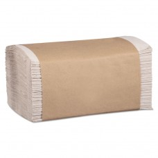 100% Recycled Folded Paper Towels, 1-Ply, 8.62 X 10 1/4, Natural, 334/pk,12pk/ct