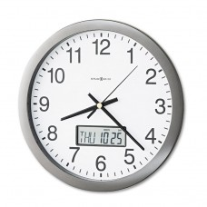 """Chronicle Wall Clock With Lcd Inset, 14"""", Gray"""