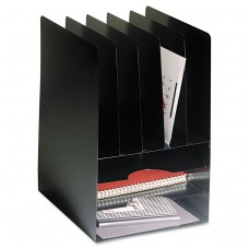 Compact Combo Organizer, Eight Sections, Steel, 9 5/8 X 11 1/8 X 14 1/8, Black