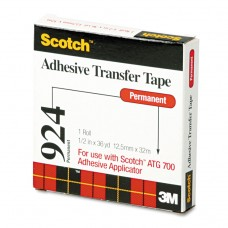 """Adhesive Transfer Tape, 1/2"""" Wide X 36yds"""
