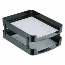 2200 Series Front-Loading Desk Tray, Two Tiers, Plastic, Letter, Black
