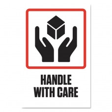 """Pre-Printed Shipping Labels, 4 X 6, """"handle With Care"""", 1000/roll, 4 Roll/carton"""