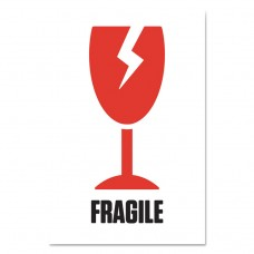 """Pre-Printed Shipping Labels, 4 X 6, """"fragile-Broken Glass"""", 1000/roll, 4 Roll/ct"""