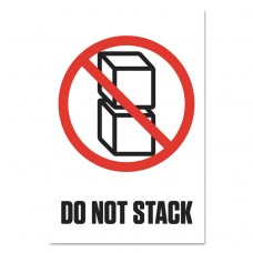 """Pre-Printed Shipping Labels, 4 X 6, """"do Not Stack"""", 1000/roll, 4 Rolls/carton"""