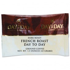 100% Pure Coffee, French Roast, 1.5 Oz Pack, 42/carton