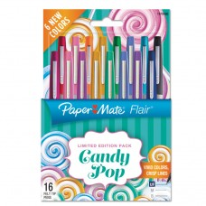 Flair Candy Pop, Assorted Ink, Ultra Fine, 16/pack